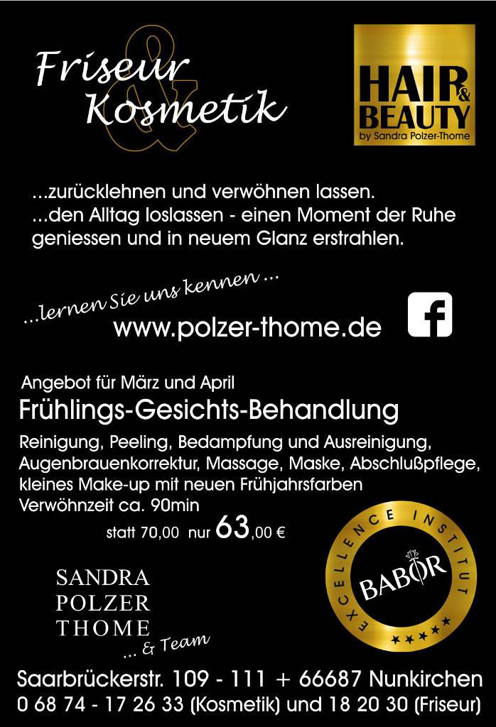 Frühlings Gesichts Behandlung Sandra Polzer Thome Nunkirchen